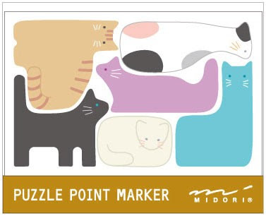 Cat sticky notes - various shapes that fit together like puzzle pieces