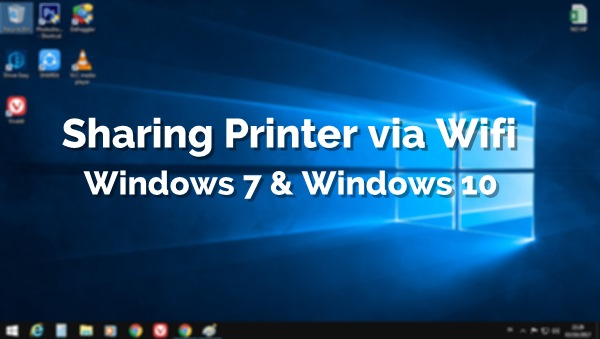 Cara Sharing Printer dengan Wifi | Jaringan Internet Windows 7 dan Windows 10