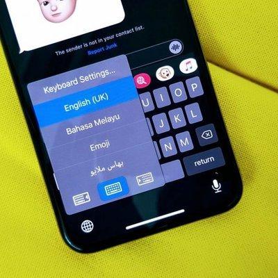 cara aktifkan tulisan jawi di ios 13 iphone
