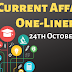 Current Affairs One-Liner: 24th October 2019
