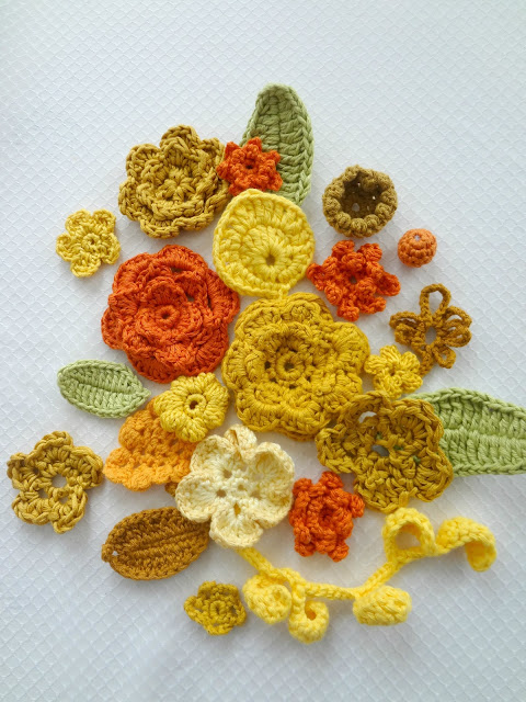 Crochet Flower Kits in the shop