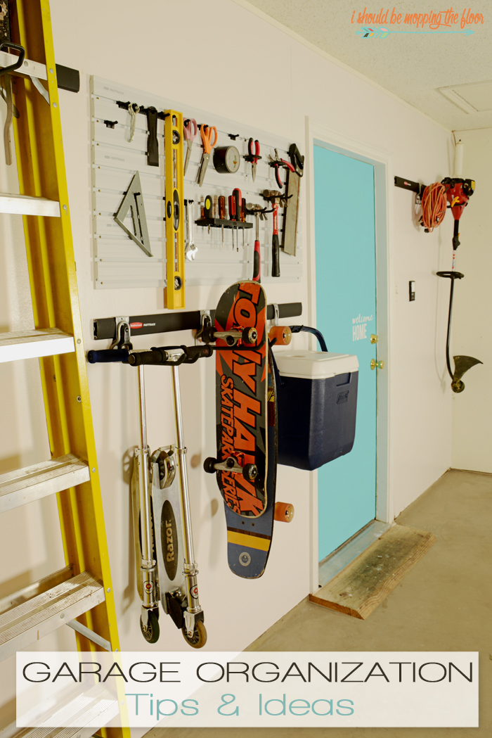 garage organization ideas - i should be mopping the floor Garage Organization Tips