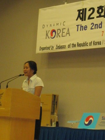 Jean's Korean speaking competition - 2nd place!