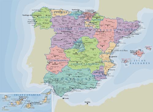 mapa españa geografico