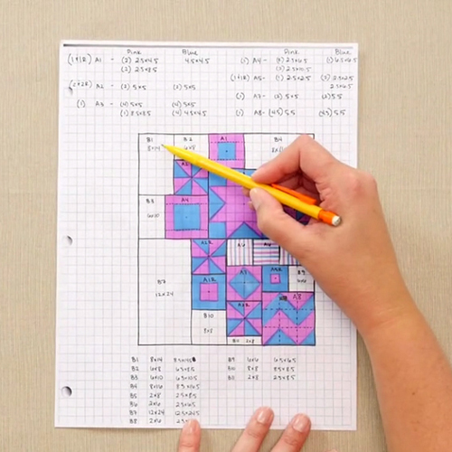 How to Design a Quilt on Graph Paper - Tutorial
