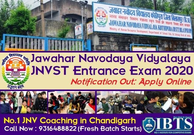 Jawahar Navodaya Vidyalaya 2020 Notification Out Apply Online for JNVST 2020