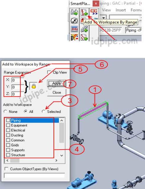 Add WorkSpace by Range SP3D