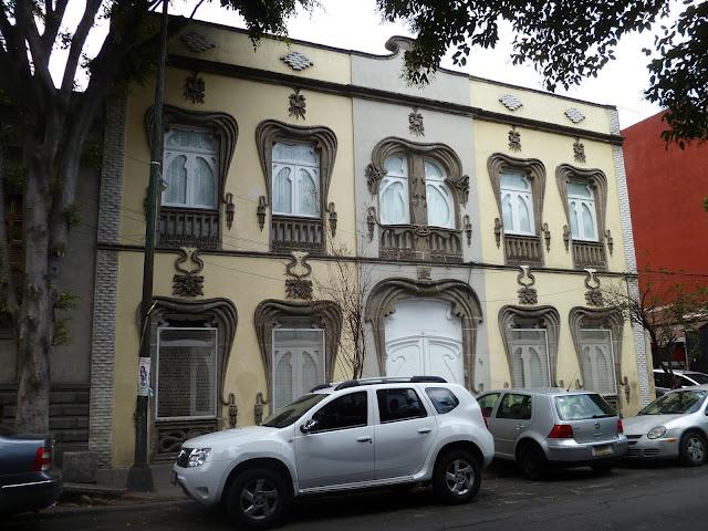 Palazzo art nouveau Colonia Roma Città del Messico