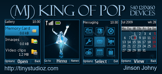 MJ King of Pop theme for Nokia C1-01/C1-02/C2-00/2690 & other Nokia S40 128×160 Devices