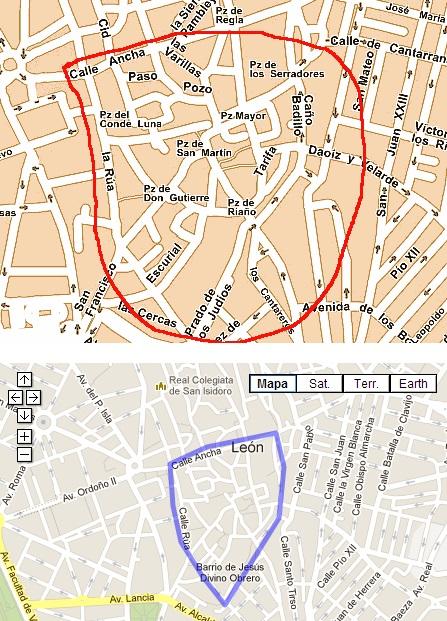Barrio Humedo Leon Mapa.Yo Y Mis Circunstancias Leon La Zona Humeda
