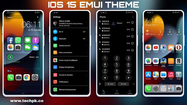 [Emui Theme] IOS 15 Emui Theme For Emui 11 & Emui 10