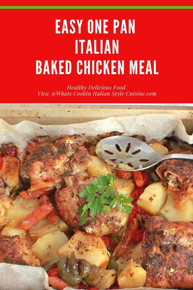 this is a delicious easy one pan chicken pin for later