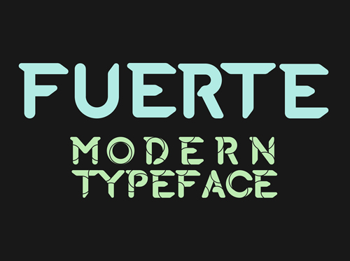 Font Commercial Gratis Terbaru Untuk Desainer Grafis - Fuerte Typeface Free Font