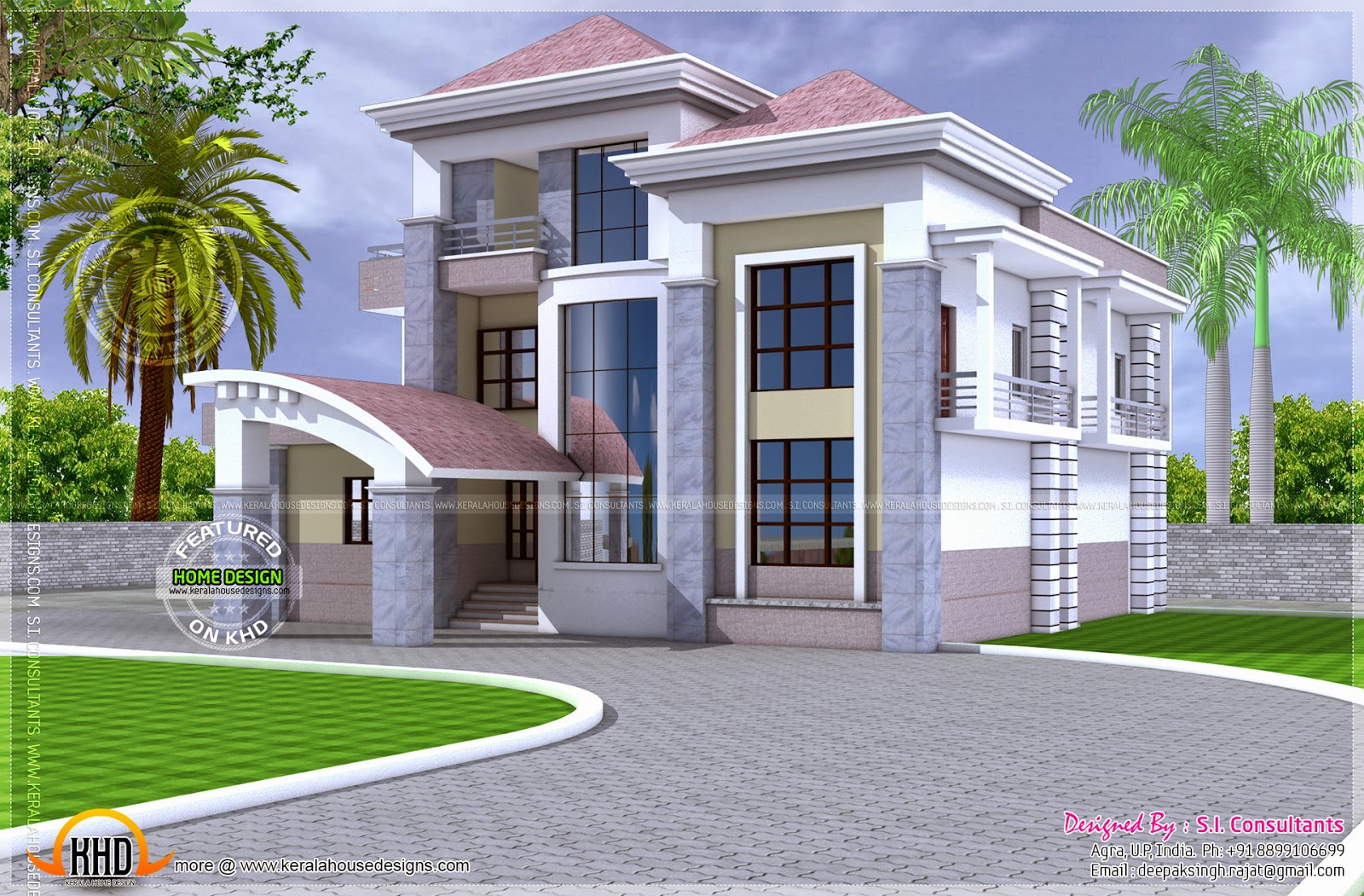 North Indian unique floor plan - Kerala home design and ...