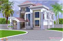 North Indian Unique Floor Plan - Kerala Home Design And