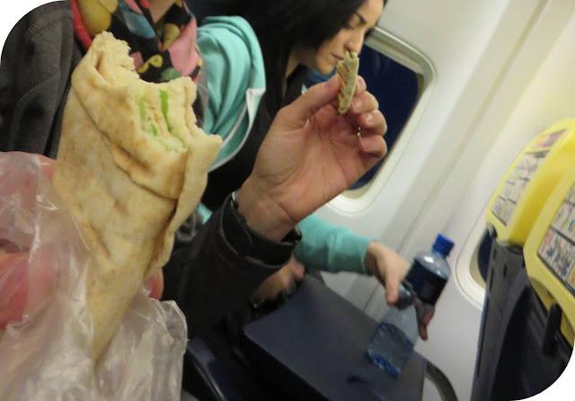 Long Weekend in Marrakech - Sidewalk Safari - Sampling Lebanese sandwiches on a Ryanair Flight