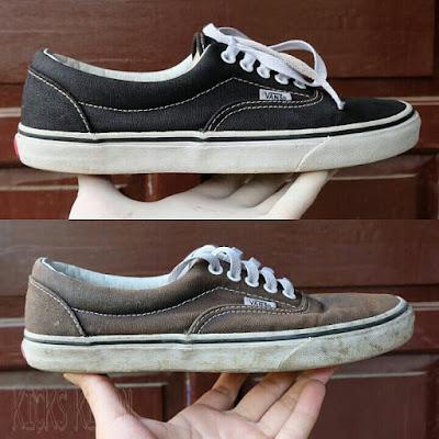 Before-After Vans Repaint