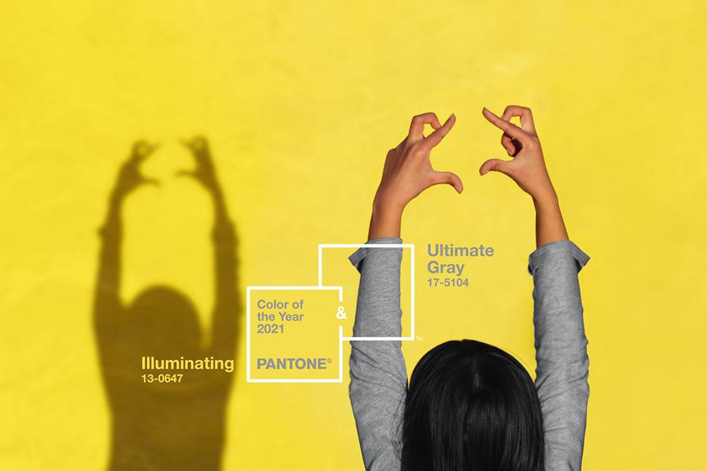 Hai màu sắc chủ đạo của năm 2021: Vàng tươi và xám trung tính