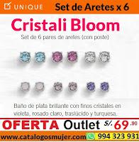 set de aretes Cristali Bloom unique