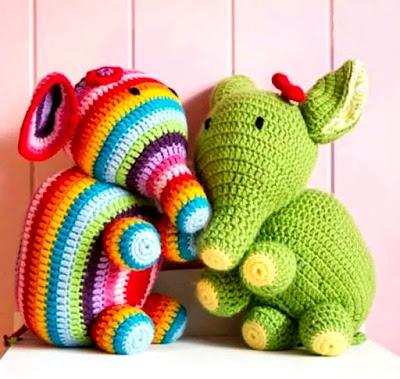 Elefante amigurumi tejido en crochet