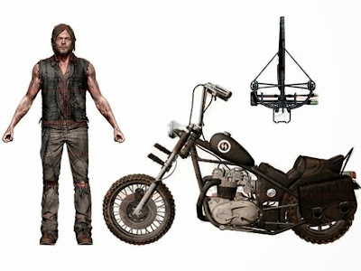 The Walking Dead TV Series - Daryl Dixon with Chopper Deluxe Boxed Set -  McFarlane Toys
