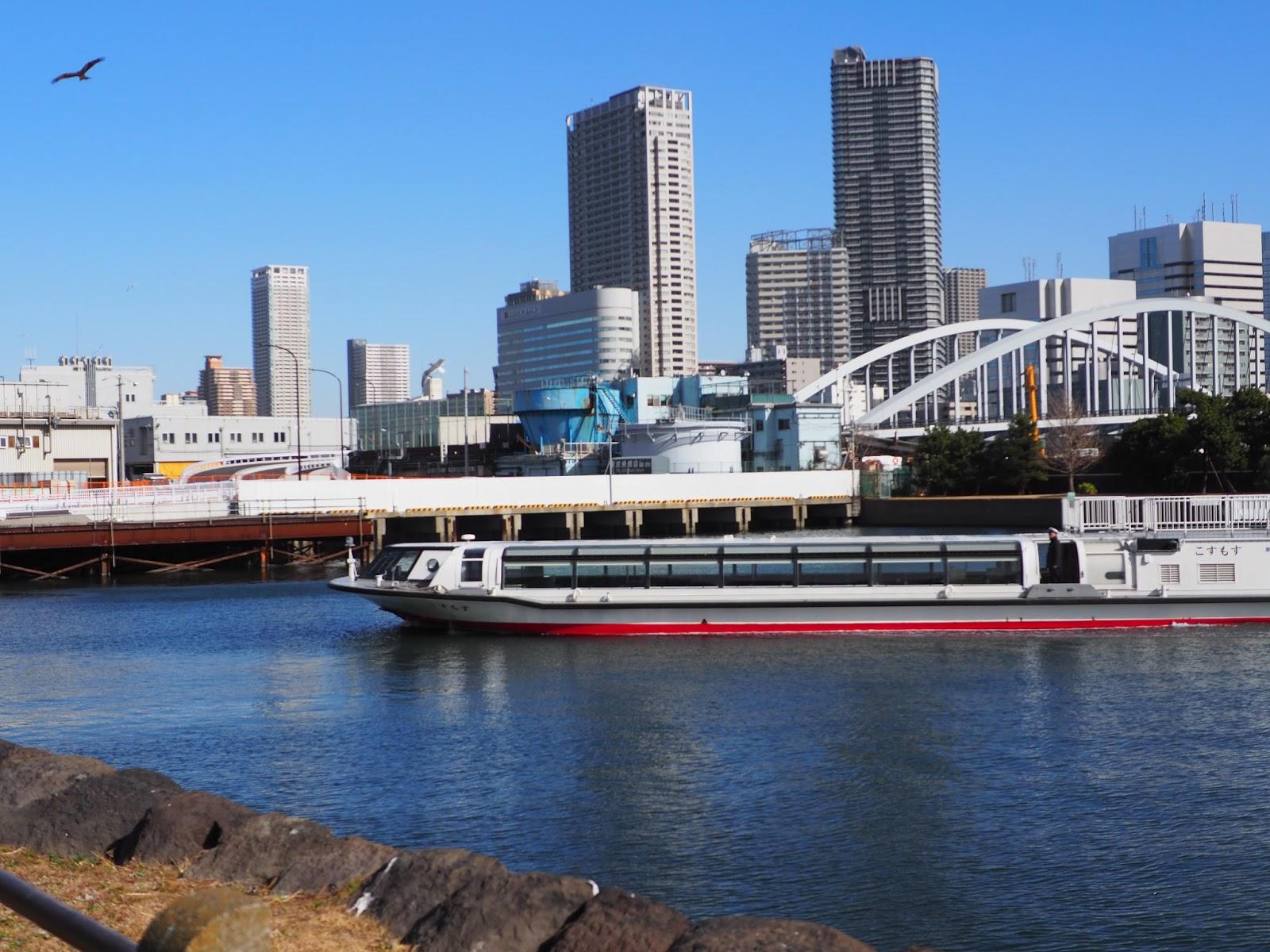 Japan water river sumida tokyo chuo