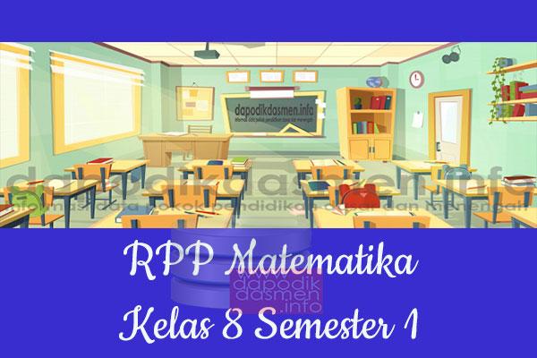 RPP Matematika Kelas 8 SMP MTs Semester 1 Revisi Terbaru 2019-2020