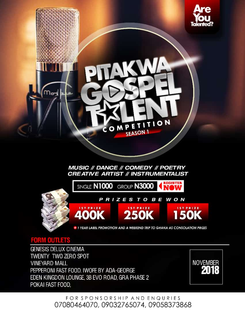 Pitakwa Gospel Talent Competition Season 1 Debuts In Port-Harcourt