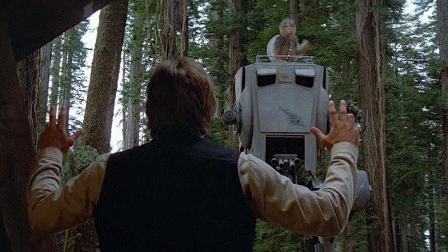 chewbacca commandeers a walker