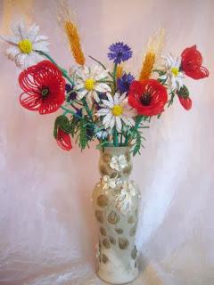Букет полевых цветов из бисера