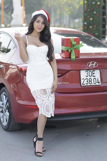 Mùa đông không lạnh của người đẹp bên Hyundai Elantra 2017 thh 6251