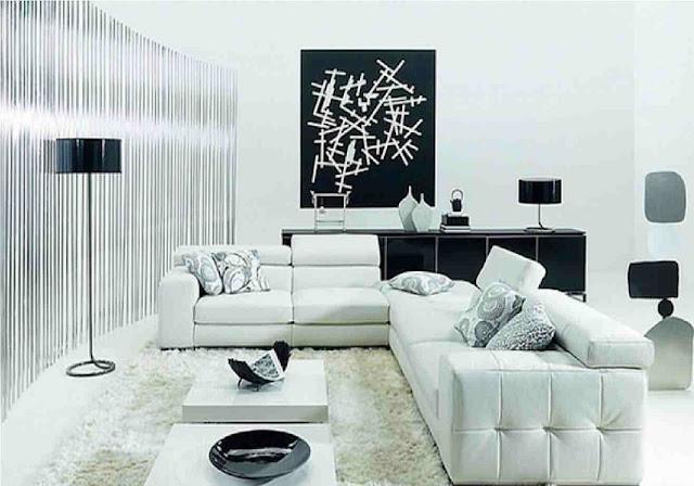 Gambar Desain Ruang Tamu Rumah Minimalis Serba Putih