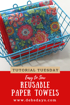 Reusable Fabric Paper Towels Sewing Project