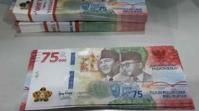 Uang Khusus Rp 75.000 Bisa Digunakan Untuk Angpao THR Lebaran, Begini Cara Menukarnya