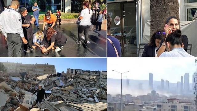 زلزال قوي يضرب مدينة  ازمير التركية