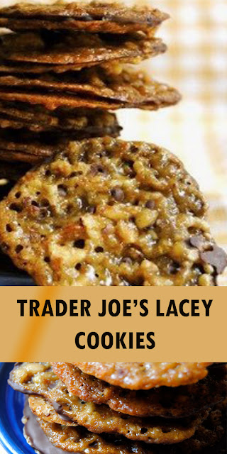 TRADER JOE'S LACEY COOKIES (DARK CHOCOLATE, ALMOND & ORANGE LACE COOKIES)