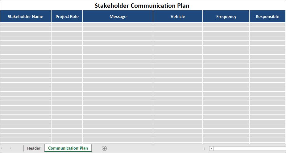 Stakeholder Communication Plan