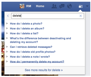 How to close down your facebook account