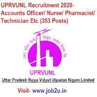 UPRVUNL Recruitment 2020, Accounts Officer, Nurse, Pharmacist, Technician Etc (353 Posts)