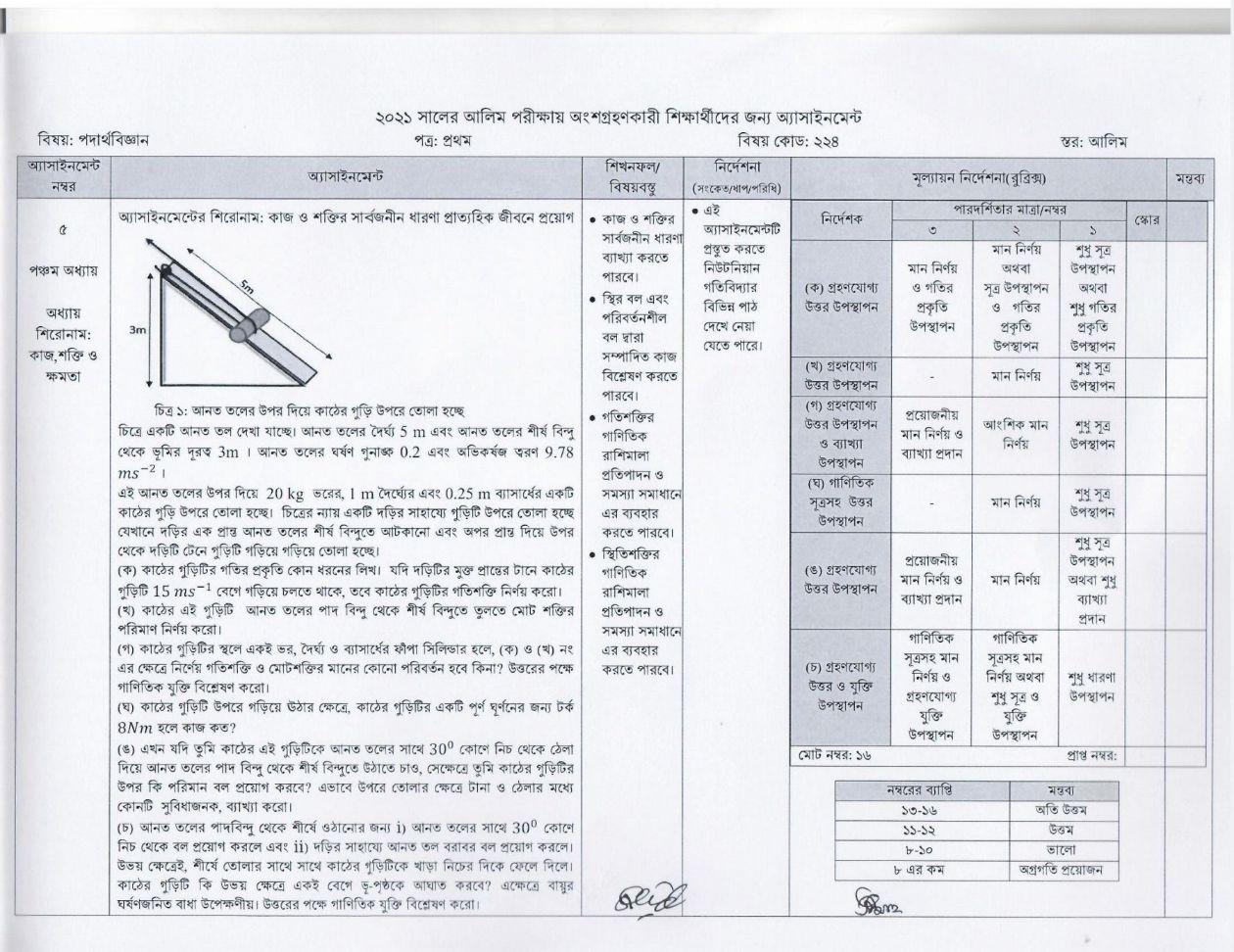 আলিম ৭ম সপ্তাহের এসাইনমেন্ট সমাধান/উত্তর ২০২১ PDF Download 11