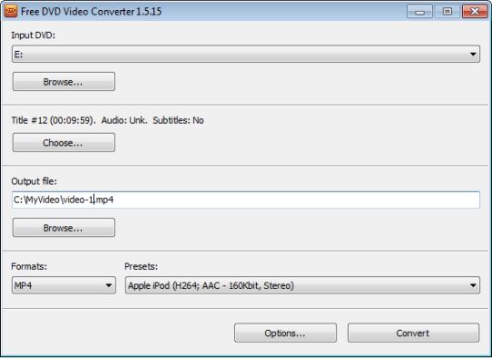Free DVD Video Converter