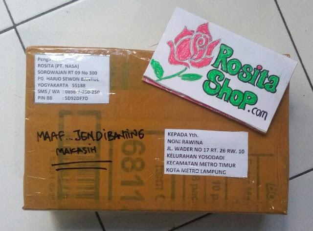Bukti kirim rositashop ke Metro Lampung