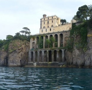 The Villa Crawford, now a guesthouse, has a prime  position overlooking the Bay of Naples