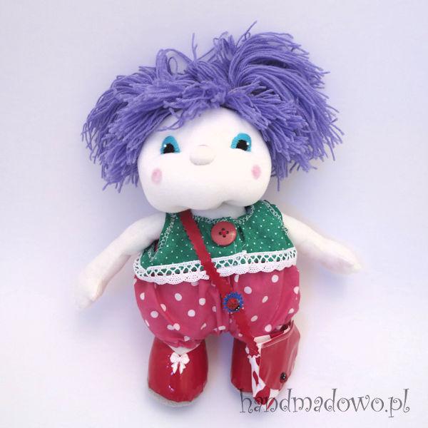 lalka szmacianka ze zdejmowanym ubraniem