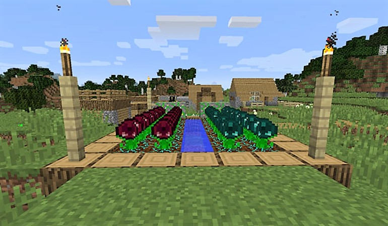 Although it seems difficult, making a garden in Minecraft is quite easy