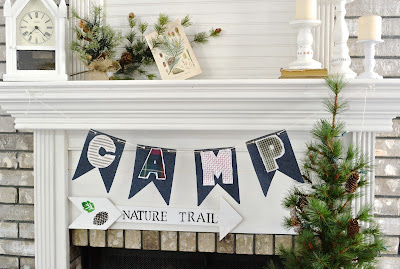 Camp Banner, Spell Camp Nature Trail Sign