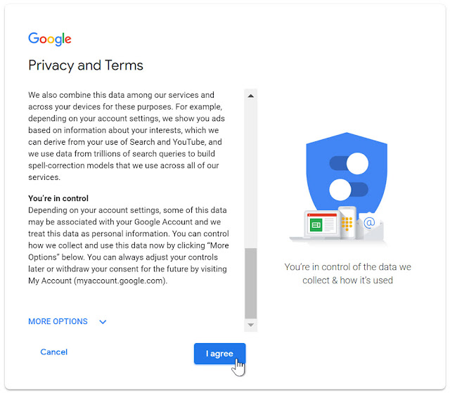 Terms and Conditions for New Gmail Account Sign UP