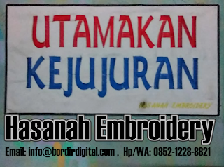 Testimony Dari Klien Jasa Bordir Komputer - Hasanah Embroidery