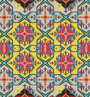 geometric textile print repeat