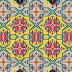 geometric textile print repeat design
